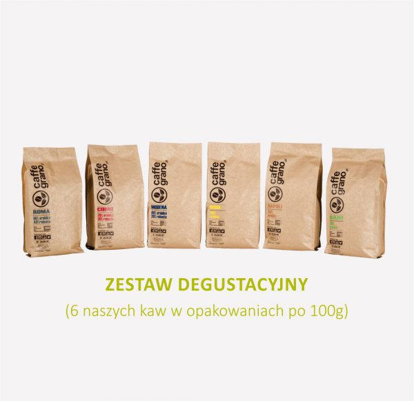 zestaw degustacyjny kaw caffe grano